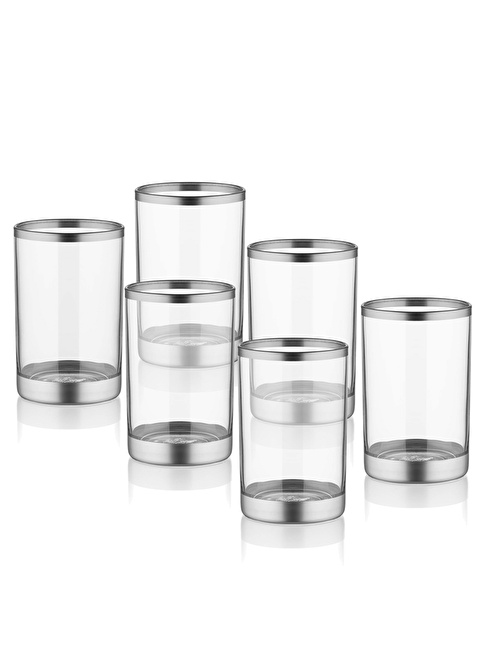 The Mia Glam Kahve Yanı Su Bardağı - Gümüş Gümüş